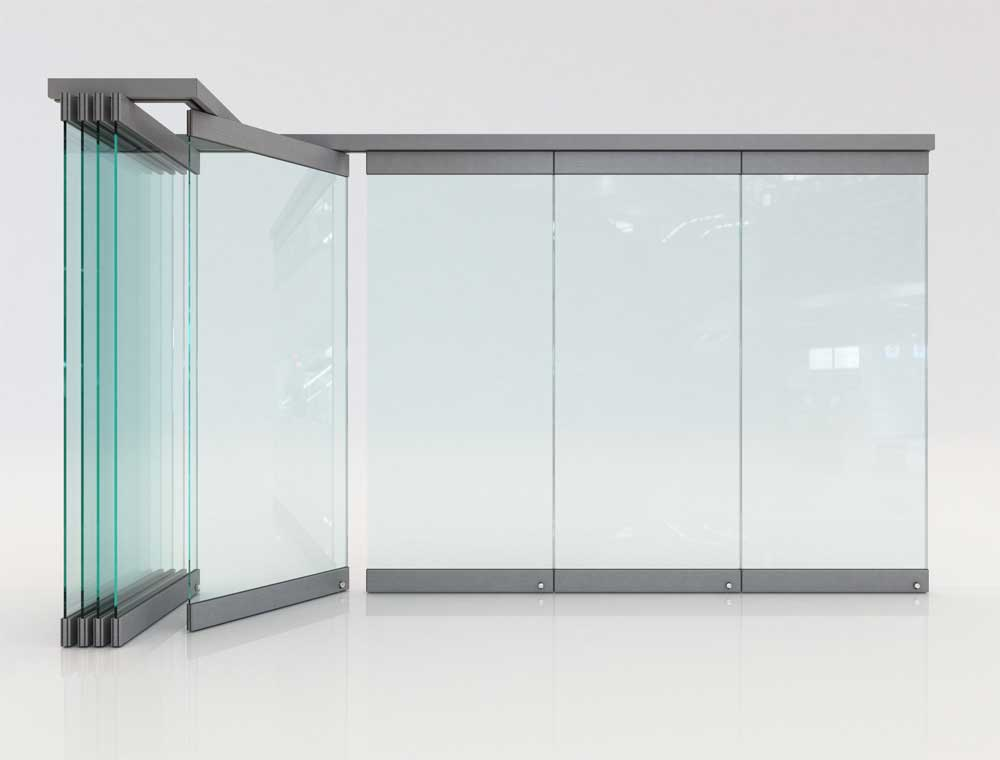 Movable Glass Partitions Folding Glass Doors F2