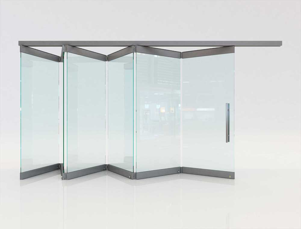 Movable Glass Partitions Folding Glass Doors F1