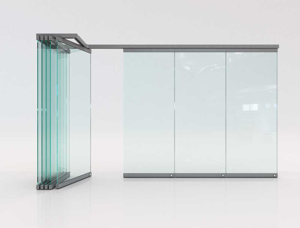 Movable Glass Partitions Folding Glass Doors F6