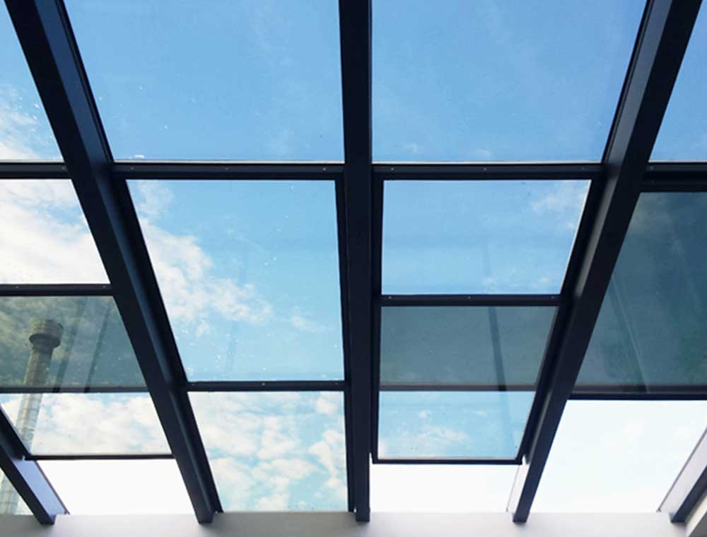 Aluminum Skylights Sliding Glazed Roofs Retractable Roofs