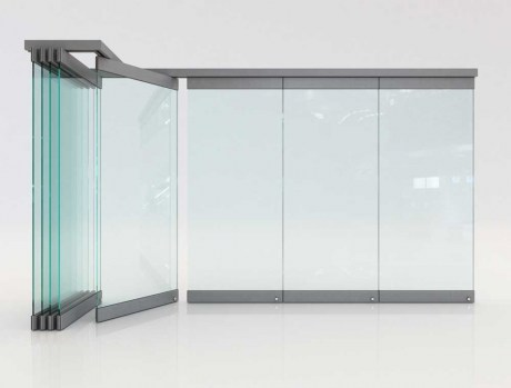 Folding glass doors F2