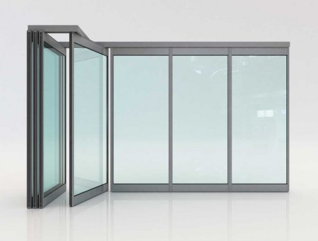 Folding glass doors F4 Elite : movable doors - pezcame.com
