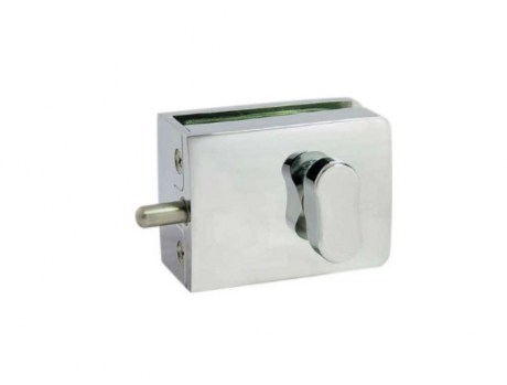 Glass door indicator lock