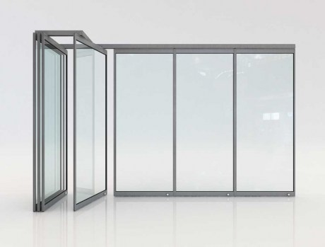 Folding glass door F5