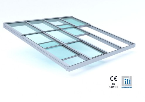 Thermally broken sliding glazed roof EUPHORIA T-GR